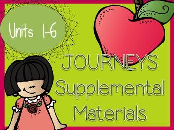 Journeys - Kindergarten Units 1-6 - Supplemental Materials