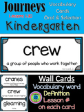 Journeys Kindergarten Vocabulary Cards- Oral & Selection All 30 Lessons- blue