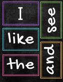 Journeys Kindergarten sight word Chalkboard Brights theme
