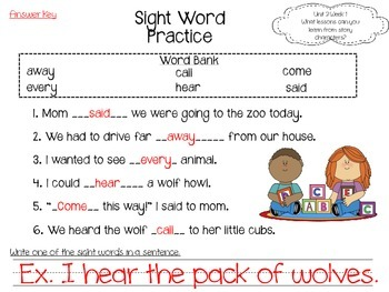 Journeys LAFS Aligned Literacy Unit Unit 2 Week 1 (Lesson 6)--First Grade
