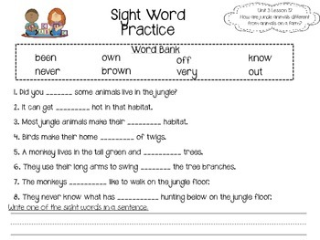 Journeys LAFS Aligned Literacy Unit Unit 3 Week 2 (Lesson 12)--First Grade