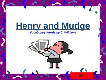 Journey's - Lesson 1 - Henry and Mudge- flash cards powerpoint- second gr.