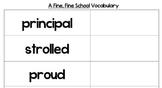 Journey's Lesson 1 a Fine Fine School Vocabulary Cards