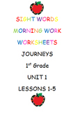 Journeys-Unit 1-Lesson 1-Words to Know-Morning Worksheets