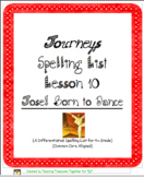 Journeys Lesson 10 Spelling List - Jose! Born to Dance