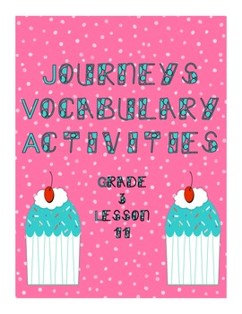 Journeys Lesson 11 Vocabulary Practice  Third Grade