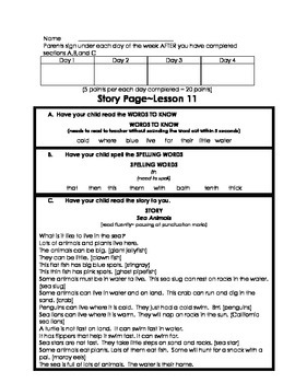 Journeys Lesson 11 story page