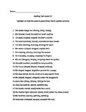 Journeys Lesson 12 Alternative Spelling Test