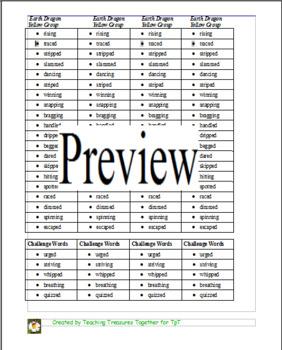 Journeys Lesson 12 Spelling List - The Earth Dragon Awakes