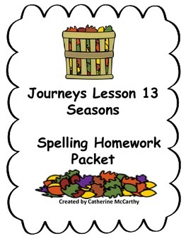 Journeys Lesson 13 Spelling