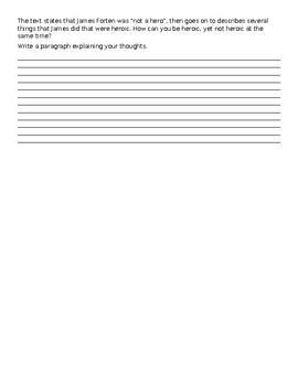Journeys Lesson 14 James Forten Close Reading Worksheet