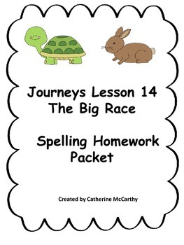 Journeys Lesson 14 Spelling Packet