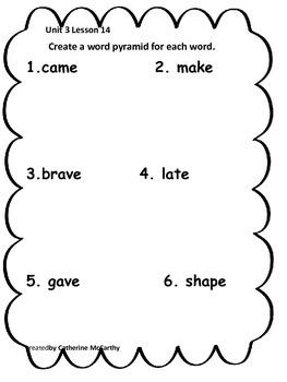 Journeys Lesson 14 Spelling Packet