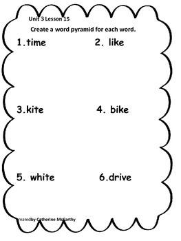 Journeys Lesson 15 Spelling