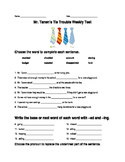 Journeys Lesson 16 Mr. Tanen's Tie Trouble Test