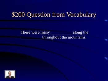 Journeys Lesson 18 A Tree is Growing Jeopardy