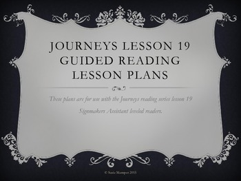 Journeys Lesson 19 The Signmaker's Assistant Guided Reading lesson plans