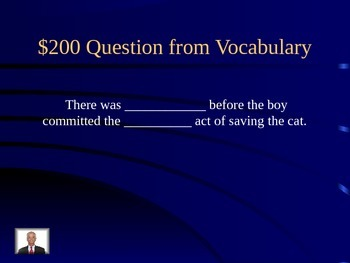 Journeys Lesson 19 Two Bear Cubs Jeopardy