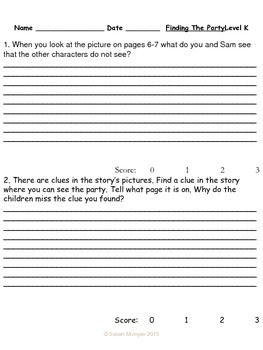 Journeys Lesson 19 Written Comprehension for guided reading & selection