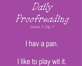 Journeys Lesson 2 Daily Proofreading First Grade