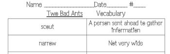 Journeys Lesson 21 Two Bad Ants Vocabulary with Definitions