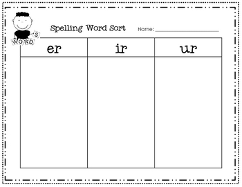 Journeys Lesson 22 - R-controlled Vowel Word Sort
