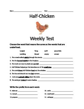 Journeys Lesson 24 Half-Chicken Test