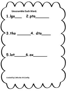 Journeys Lesson 3 Spelling Packet