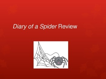 Journeys Lesson 4: Diary of a Spider Review