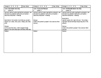 Journeys Unit 1, Lesson 5 Teacher's Pets Guided Reading lesson plans Grade 2