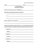 Journeys Lesson 5 Think and Write Station Worksheet