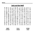 Journeys Lesson 6 Jack and the Wolf Word Search-Grade One