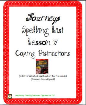 Journeys Lesson 7 Spelling