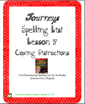 Journeys Lesson 7 Spelling