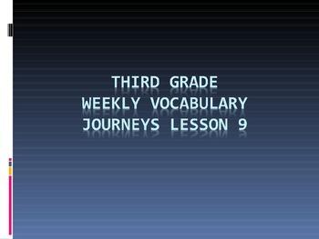 Journeys Third Grade Lesson 9 Kamishibai Man Vocabulary Po