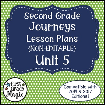 Journeys Lesson Plans 2nd Grade Unit 5