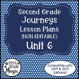 Journeys Lesson Plans 2nd Grade Unit 6