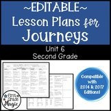 Journeys Lesson Plans Second Grade Unit 6 {EDITABLE!}