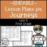 Journeys Lesson Plans First Grade Unit 5 {EDITABLE!}