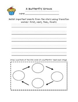 Journeys- Listening & writing response sheets- grade 1