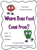 Journeys®  Literacy Activities - Where Does Food Come From? - Grade 1