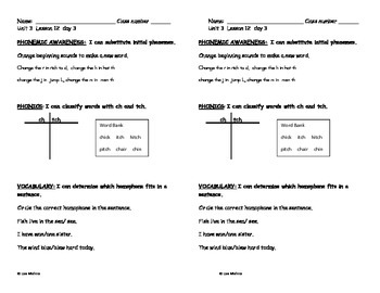 Journeys Literacy Assignment: First Grade, Unit 3, Lesson