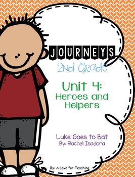 Journeys Luke Goes to Bat Grade 2 {Editable}