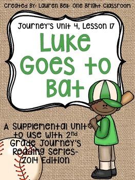 Journeys- Luke Goes to Bat Supplemental Unit {Unit 4: Lesson 17}