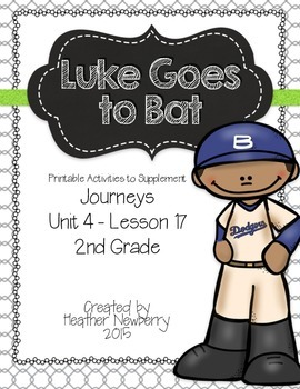 Journeys: Luke Goes to Bat (Unit 4, Lesson 17)