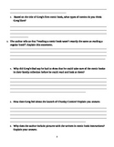 "Journey's ""Lunch Money"" Comprehension & Vocabulary Worksheet"