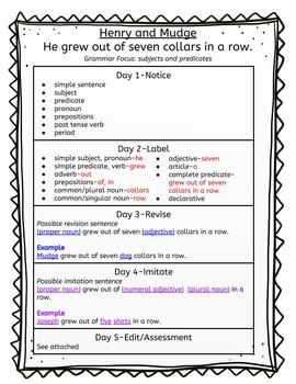 Journeys Mentor Sentences 2nd grade Units 1-3