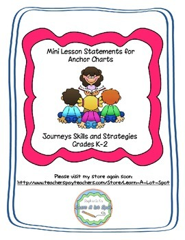 Journeys Mini Lesson {Anchor Chart} Statements {Grades K-2}