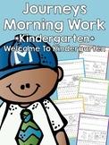Journeys Morning Work - Kindergarten - Welcome To Kindergarten