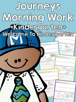 Journeys Morning Work - Kindergarten - Welcome To Kindergarten